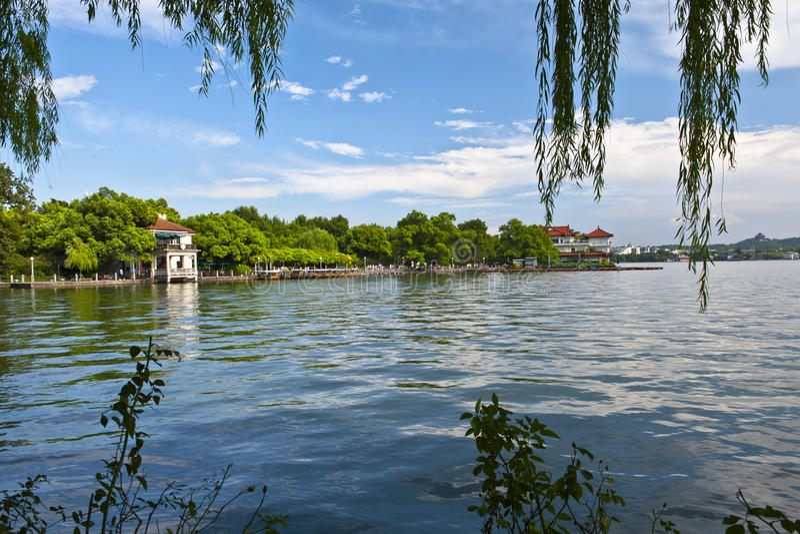 Xihu在中国的杭州 库存照片