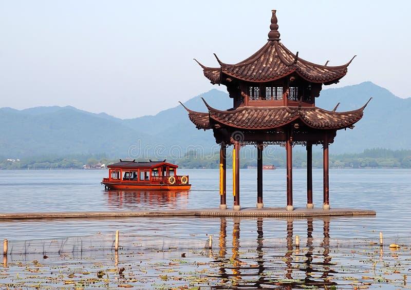 xihu λιμνών στοκ εικόνα με δικαίωμα ελεύθερης χρήσης