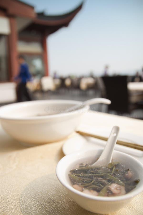 Xihu Brasenia schreberi Suppe stockbild