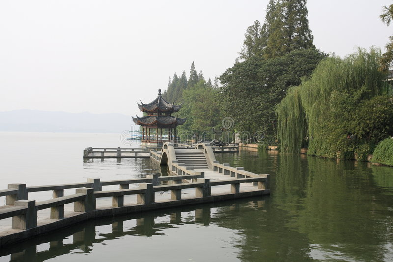 xihu de hangzhou de porcelaine photos stock