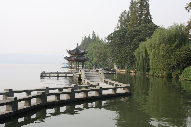 Xihu a Hangzhou della Cina fotografie stock