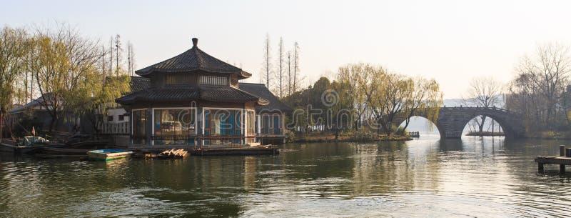 Xihu jezioro fotografia royalty free