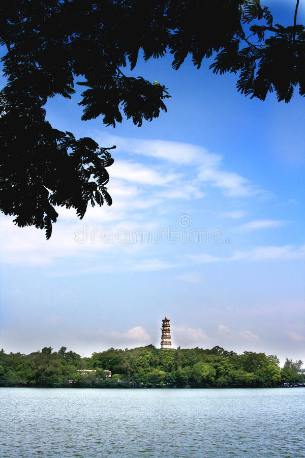 Xihu van Huizhou stock foto
