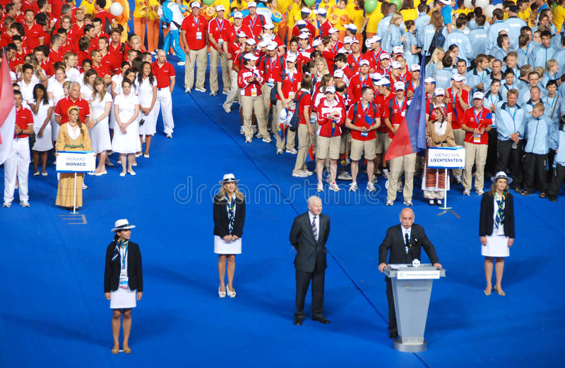Download XIII  Olymic Games Of The Small Estates Of Europe Editorial Stock Photo - Image: 9676918
