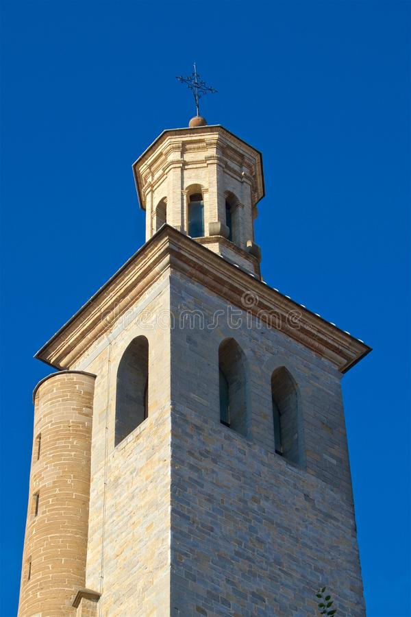 XIII wiek kościół San Saturnino lub San Cernin patron Pamplona w Pamplona, Hiszpania fotografia stock