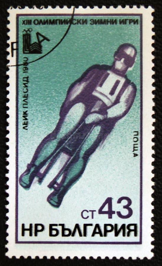 XIII zim olimpiady, lake placid, Bob, około 1980 obrazy stock