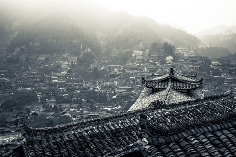 Xijiang χίλιο χωριό οικογενειακού Miao, Guizhou, Κίνα στοκ εικόνες