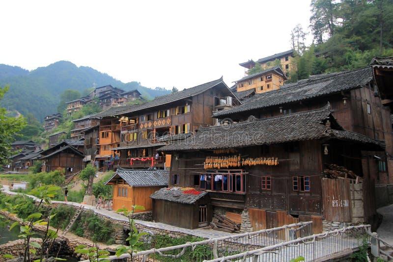 Xijiang duizend huishoudens hmong dorp royalty-vrije stock fotografie