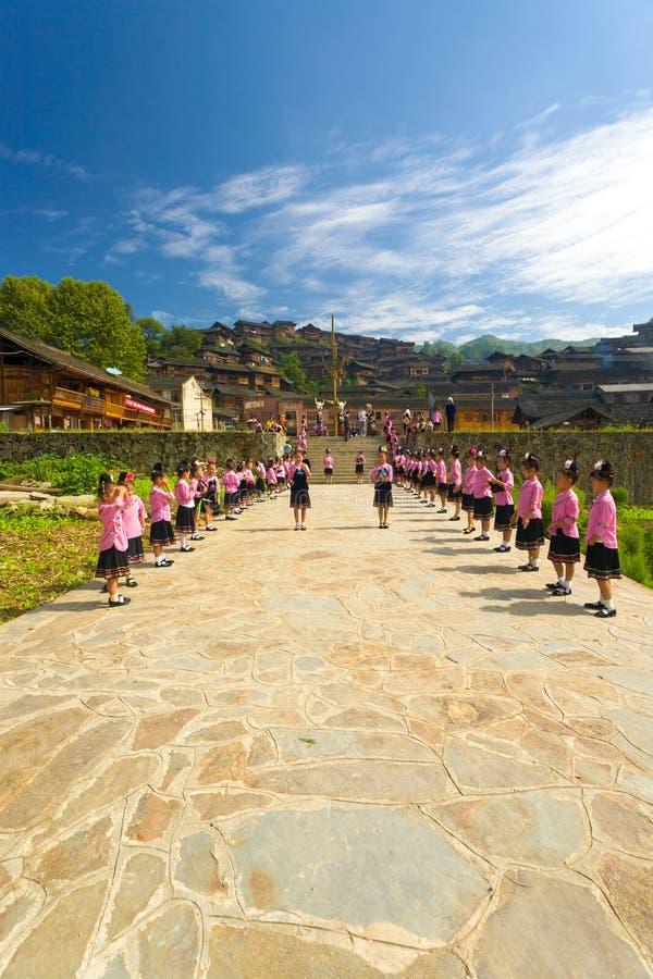 Xijiang Miao Village Festival Girls Ceremony China stock photo