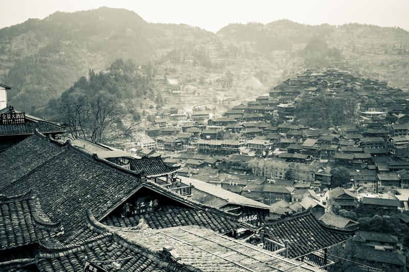 Xijiang thousand family Miao village, Guizhou, China royalty free stock photos