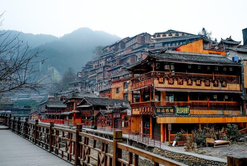 Xijiang thousand family Miao village, Guizhou, China stock photography