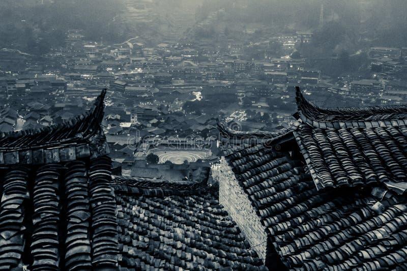 Xijiang tusen familjMiao by, Guizhou, Kina arkivbild