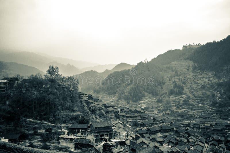 Xijiang tusen familjMiao by, Guizhou, Kina fotografering för bildbyråer