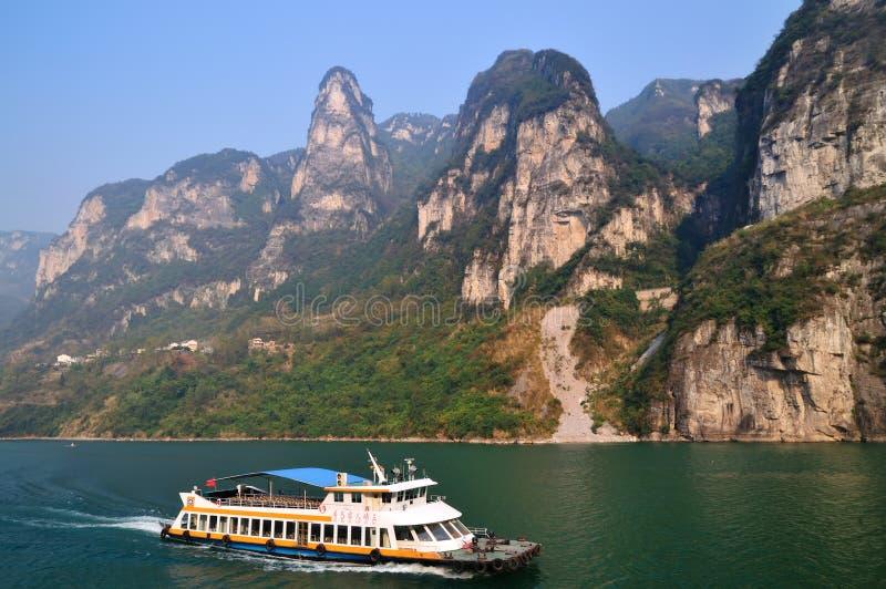 Xiling Gorge ao longo do Rio Yangtzé imagem de stock royalty free