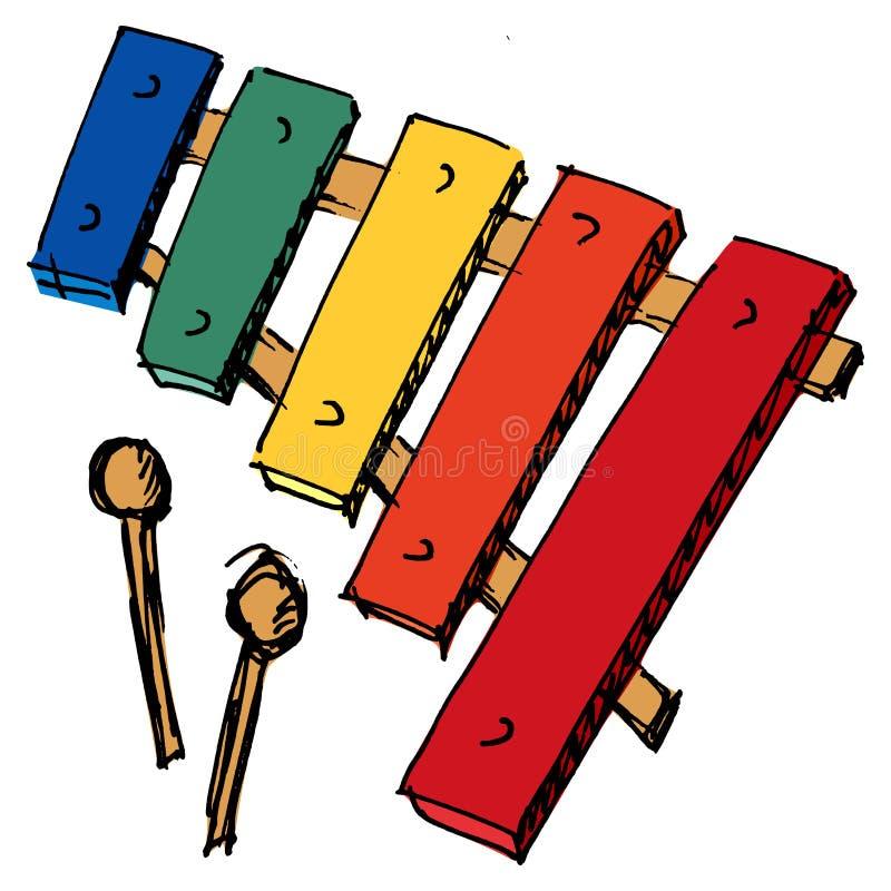 Xilofone ilustração do vetor