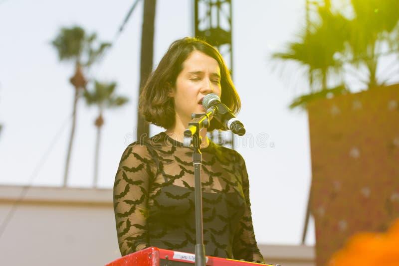Ximena Sariñana, cantor-compositor mexicano e atriz durante D fotografia de stock