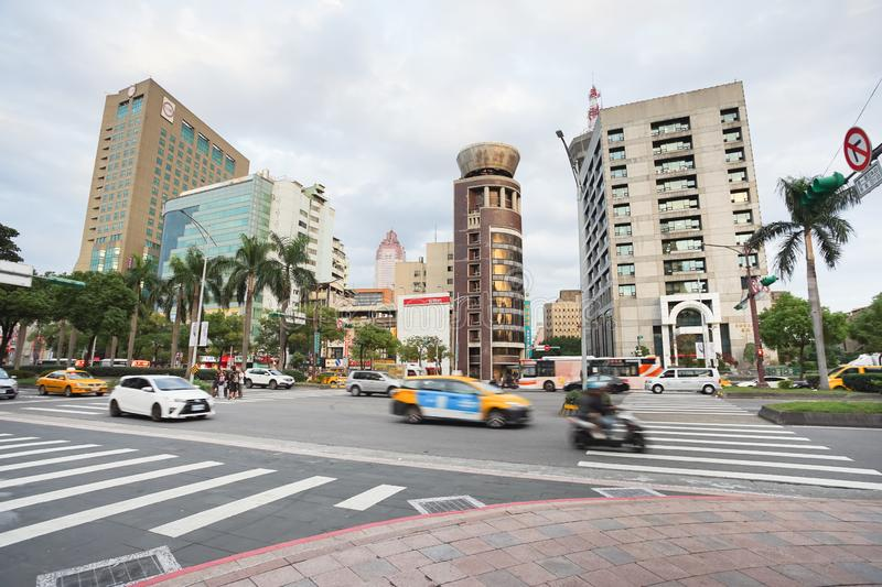 Ximending street view in the evening time, Taipei, Taiwan royalty free stock photo
