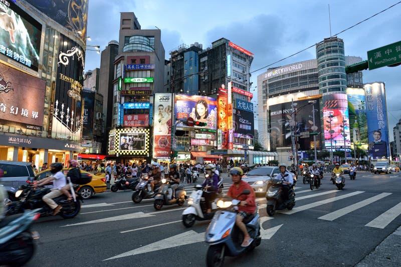 Ximending Taipei fotografering för bildbyråer