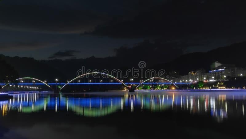 Xin& x27; сцена ночи реки стоковое изображение