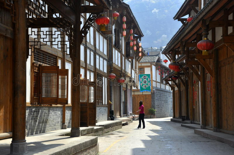 Xin Xing Zhen, Chine : Vieilles Chambres belles image stock