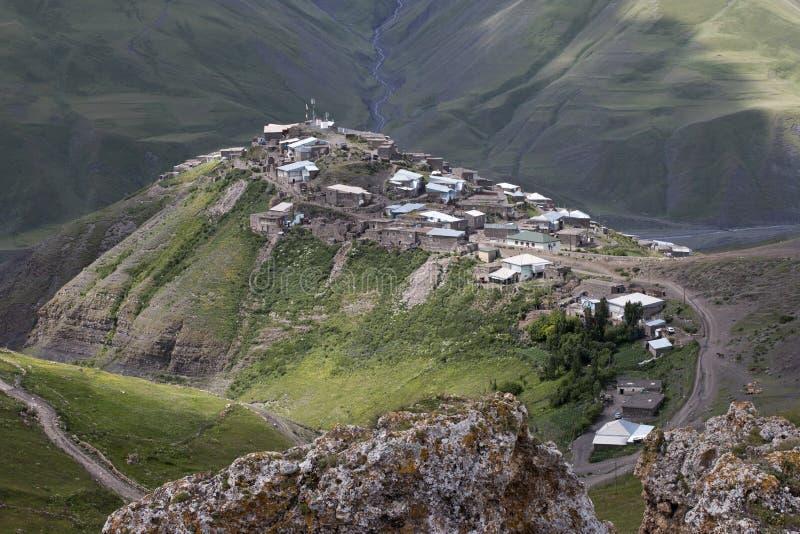 By Xinaliq på Azerbajdzjan fotografering för bildbyråer