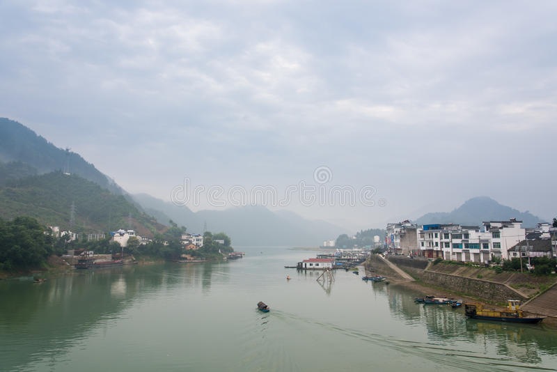 Xinan-Fluss lizenzfreie stockfotografie