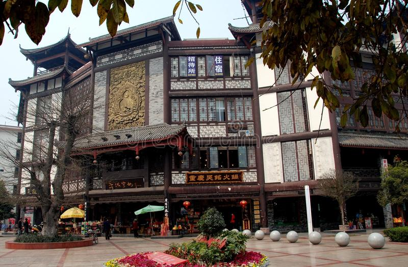 Xindu, Chine : Constructions à l'ancienne chinoises image stock