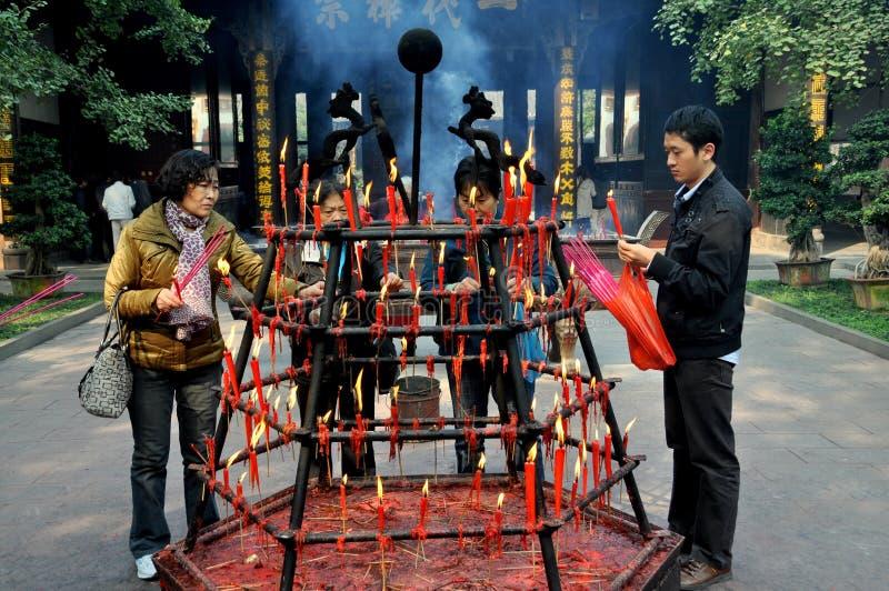 Xindu, Cina: Tempiale di Bao Guang immagini stock