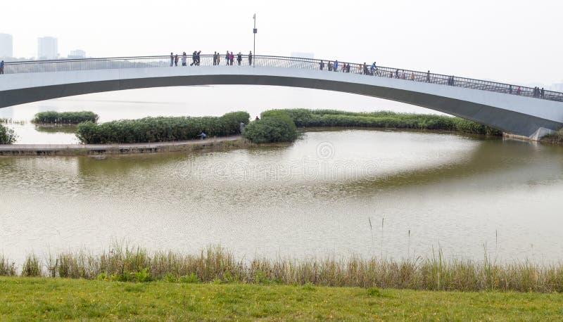Xing Long Lake em chengdu, porcelana imagens de stock