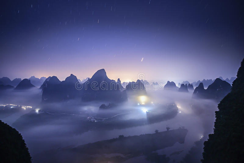 Xingping krajobraz fotografia royalty free