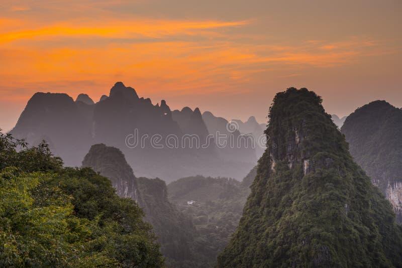 Xingping krajobraz obraz royalty free