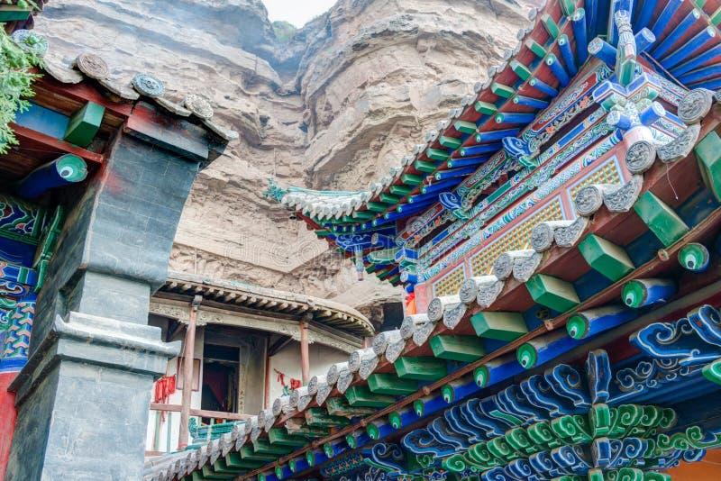 XINING, CHINA - 5 de julho de 2014: Templo norte da montanha (Tulou Guan) n foto de stock royalty free
