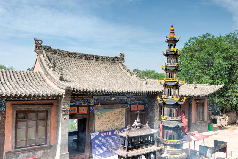 XINING, CHINA - Jul 5 2014: North Mountain Temple(Tulou Guan). N royalty free stock photography