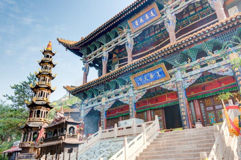 XINING, CHINA - Jul 5 2014: North Mountain Temple(Tulou Guan). N stock photography