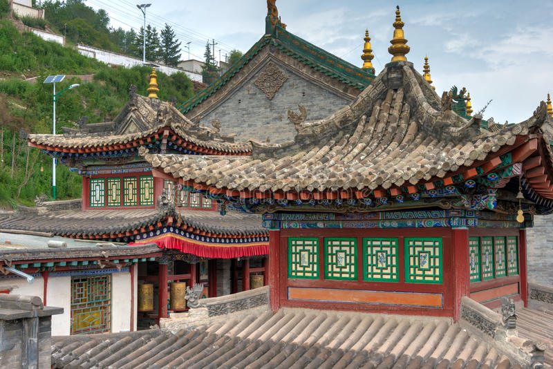 XINING, CHINA - 30. Juni 2014: Kumbum-Kloster ein berühmter Markstein lizenzfreie stockfotografie