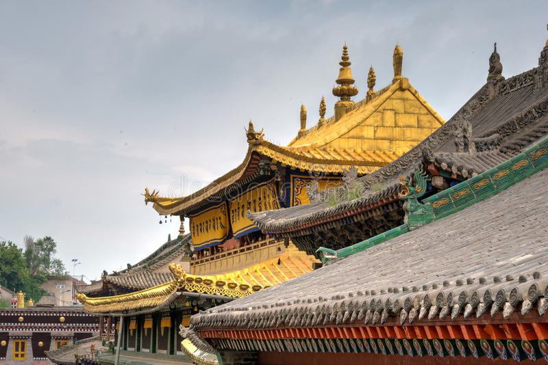 XINING, CHINA - 30. Juni 2014: Kumbum-Kloster ein berühmter Markstein lizenzfreie stockfotos
