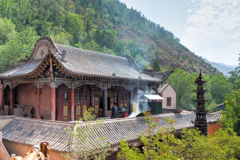 XINING, CHINE - 5 juillet 2014 : Temple du nord de montagne (Tulou Guan) n photos stock