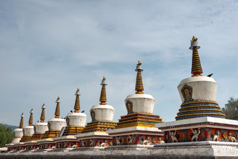 XINING CHINY, Jun, - 30 2014: Kumbum monaster sławny punkt zwrotny zdjęcia royalty free