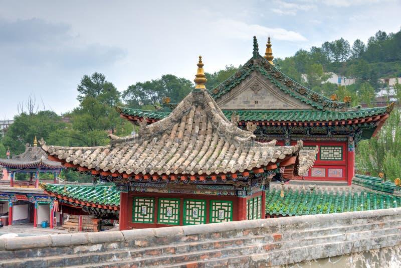 XINING CHINY, Jun, - 30 2014: Kumbum monaster sławny punkt zwrotny fotografia royalty free