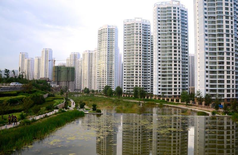 Xining stadsutvecklingar fotografering för bildbyråer