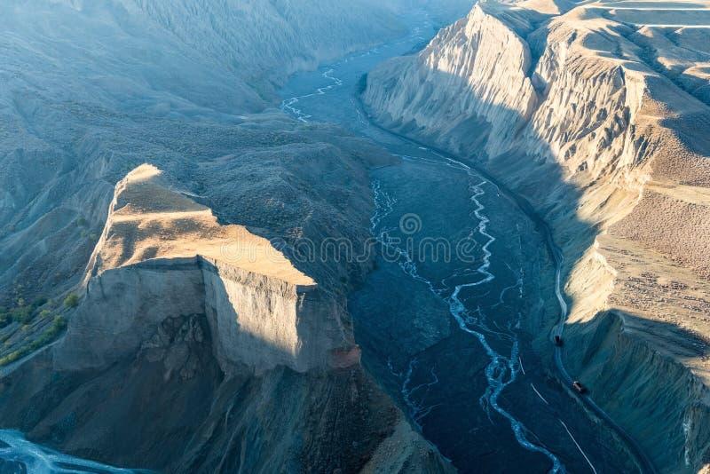 Xinjiang anjihai uroczystego jaru zbliżenie fotografia stock
