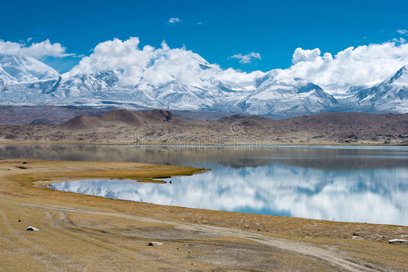 XINJIANG, CHINA - May 21 2015: Karakul Lake. a famous landscape royalty free stock photo