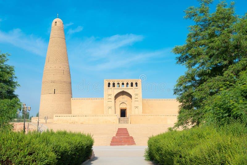 XINJIANG, CHINA - Mei 03 2015: Emin Minaret (Sugongta) beroemd stock afbeelding