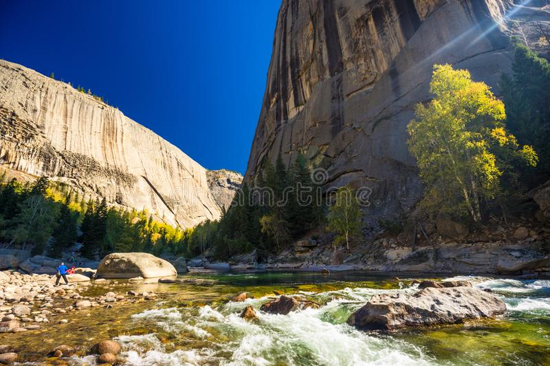 Xinjiang Cocoto sea Geological Park Elder Grand Canyon Scenic Area. Autumn royalty free stock image