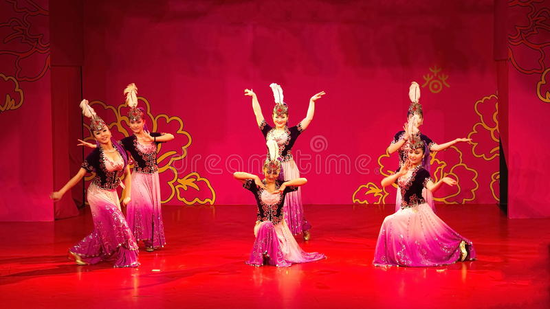 Xinjiang dance royalty free stock image