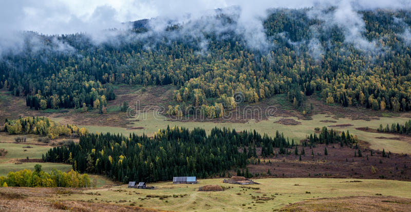 Xinjiang Hemu village scenery royalty free stock photo