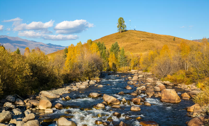 Xinjiang Hemu village scenery royalty free stock photos