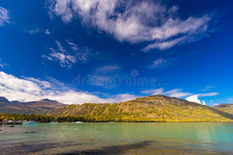 Xinjiang Kanas Lake scenery stock photos