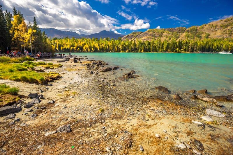 Xinjiang Kanas Lake scenery royalty free stock photography