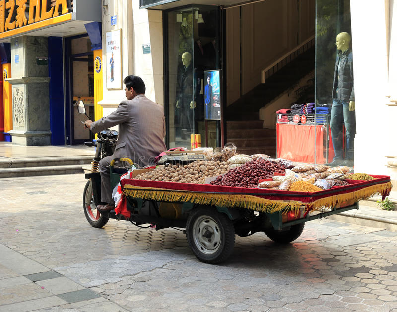 Xinjiang People Selling Dried Fruit Editorial Photography